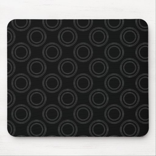 Perfectly Luxurious Mousepad, Black and White