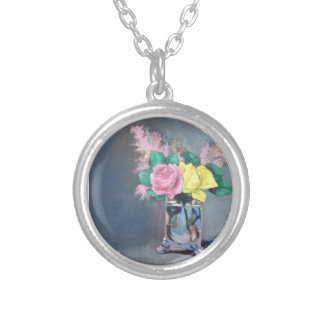 Perfectly Painted Rose Pendant