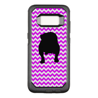 Perfectly Pink Chevron With Bulldog OtterBox Commuter Samsung Galaxy S8 Case