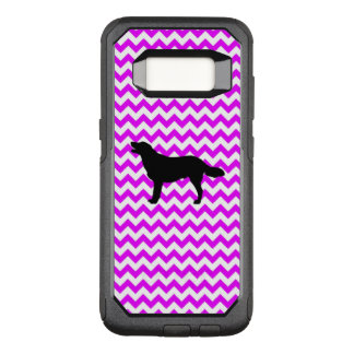 Perfectly Pink Chevron With Golden Silhouette OtterBox Commuter Samsung Galaxy S8 Case
