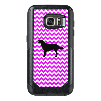 Perfectly Pink Chevron With Golden Silhouette OtterBox Samsung Galaxy S7 Case