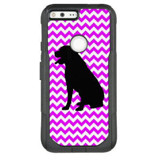 Perfectly Pink Chevron With Lab Silhouette OtterBox Commuter Google Pixel XL Case