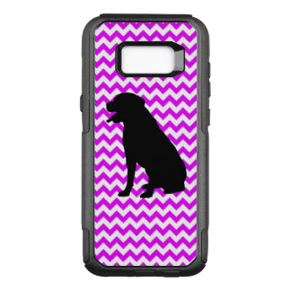 Perfectly Pink Chevron With Lab Silhouette OtterBox Commuter Samsung Galaxy S8+ Case