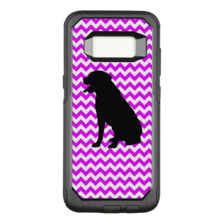 Perfectly Pink Chevron With Lab Silhouette OtterBox Commuter Samsung Galaxy S8 Case