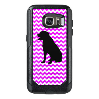 Perfectly Pink Chevron With Lab Silhouette OtterBox Samsung Galaxy S7 Case