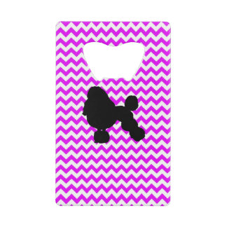 Perfectly Pink Chevron With Poodle