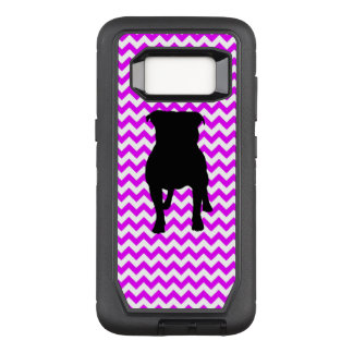 Perfectly Pink Chevron With Pug Silhouette OtterBox Defender Samsung Galaxy S8 Case