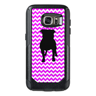 Perfectly Pink Chevron With Pug Silhouette OtterBox Samsung Galaxy S7 Case