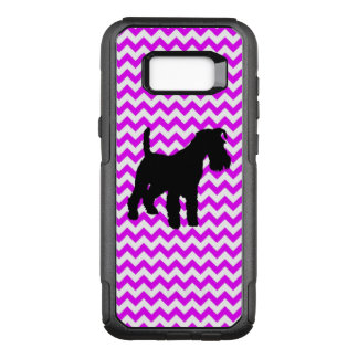 Perfectly Pink Chevron With Schnauzer OtterBox Commuter Samsung Galaxy S8+ Case