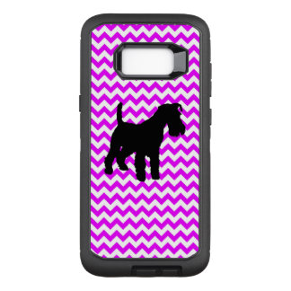 Perfectly Pink Chevron With Schnauzer OtterBox Defender Samsung Galaxy S8+ Case