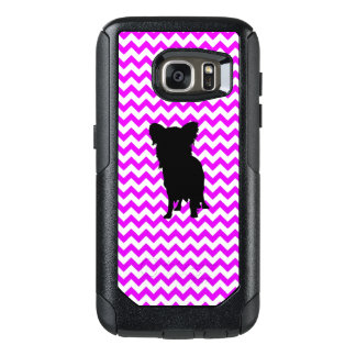 Perfectly Pink Chevron With Yorkie OtterBox Samsung Galaxy S7 Case