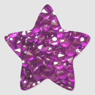Perfectly Pink Crystals Star Sticker