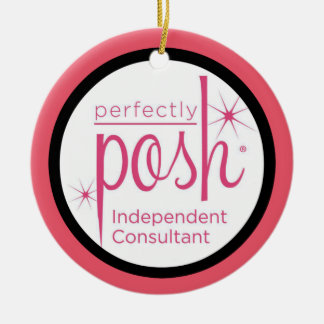 Perfectly Posh Independent Consultant gifts Ceramic Ornament