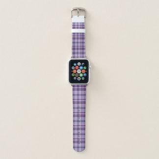 Perfectly Purple Plaid Apple Watch Band
