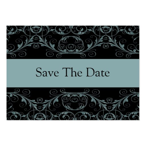 Perfectly Vintage Save The Date / Alluring Blue Business Card