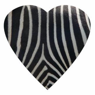 Perfectly Zebra Print Heart Photo Sculpture Magnet