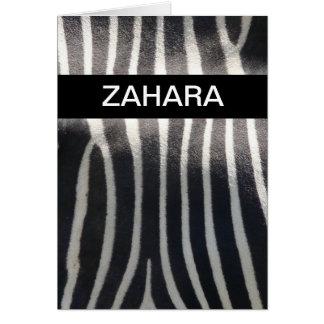 Perfectly Zebra Print Personalized Name Greeting Card