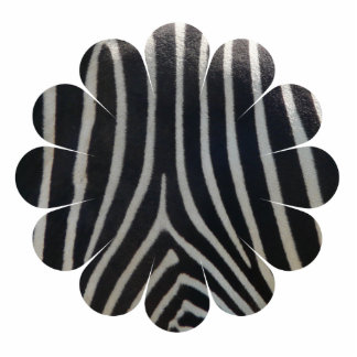 Perfectly Zebra Print Whimsical Flower Photo Sculpture Magnet