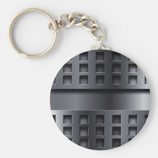 Perforated Metal Keychain