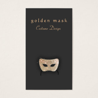Performing Arts Gold Sequin Mask Business Card