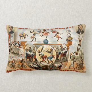 Performing Monkeys Signorita Galetti  Circus Lumbar Cushion