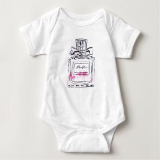Perfume bottle fashion watercolour illustration baby bodysuit