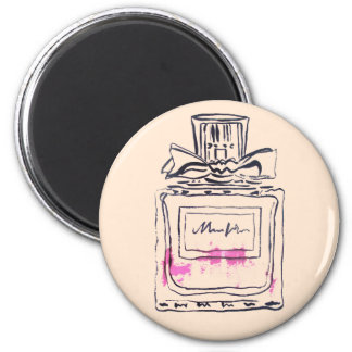 Perfume bottle fashion watercolour illustration magnet