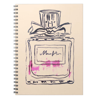Perfume bottle fashion watercolour illustration notebook
