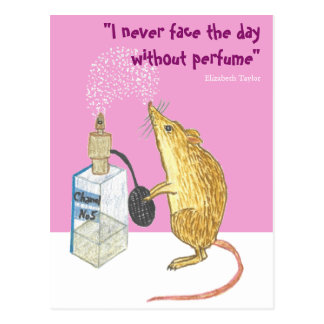 Perfume -- essential for a good day! postcard
