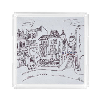 Perfume Museum & Street Scene | Grasse, France Acrylic Tray