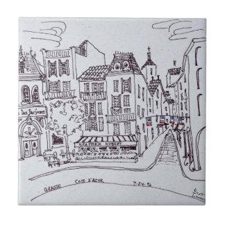 Perfume Museum & Street Scene | Grasse, France Tile