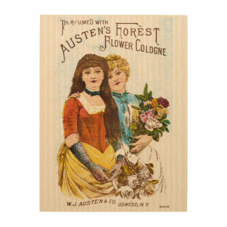 Perfume Vintage Advertisement Wood Canvases