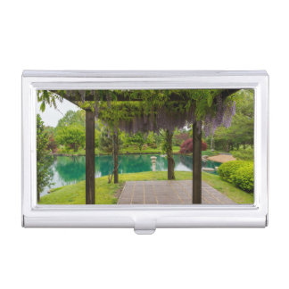 Pergola Of Wisteria Business Card Holder
