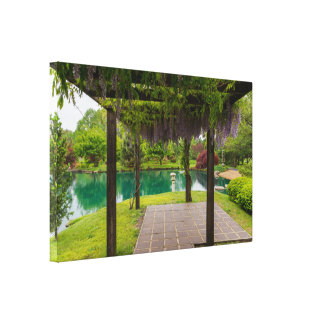 Pergola Of Wisteria Canvas Print