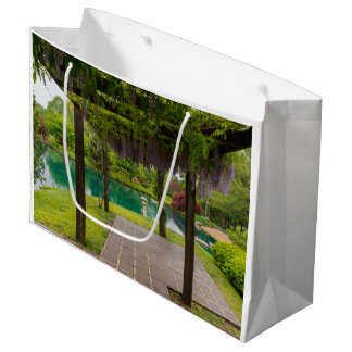 Pergola Of Wisteria Large Gift Bag