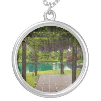 Pergola Of Wisteria Silver Plated Necklace
