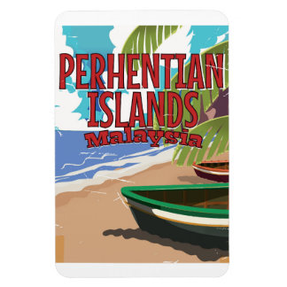 Perhentian Islands Malaysia vintage travel poster Magnet