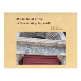 Perils of the Working Day World, Bank Facade Postcard