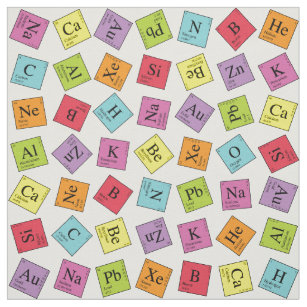 Periodic table of elements craft supplies zazzle periodic elements fabric urtaz Choice Image
