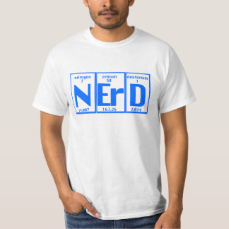 Periodic Elements of Nerd T-shirts
