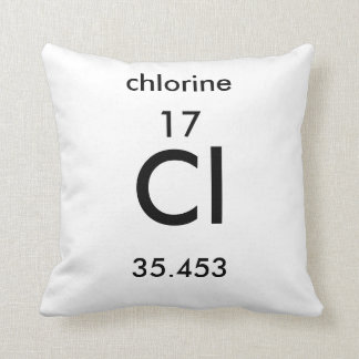 Periodic Table 17 Chlorine Pillow