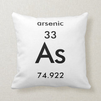 Periodic Table 33 Arsenic Pillow