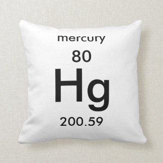 Periodic Table 80 Mercury Pillow