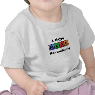 Periodic Table Bacon Science Chemistry Funny T-shirts
