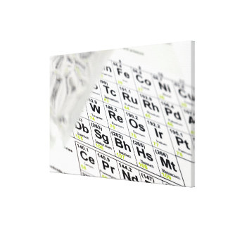 Periodic table. stretched canvas print