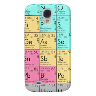 Periodic Table Case for iPhone 3G/3Gs Samsung Galaxy S4 Case