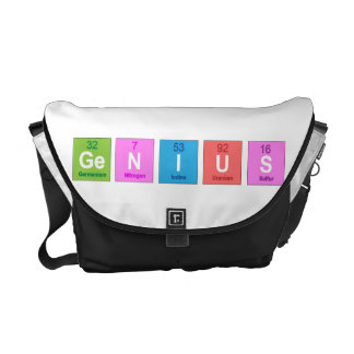 Periodic table chemistry fun courier bags