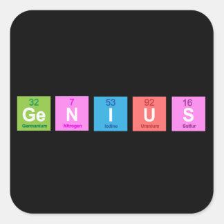 Periodic table chemistry fun square sticker