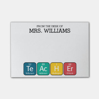 Periodic Table Elements Spelling Teacher Post-it Notes