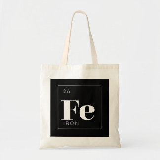 Periodic Table Elements Tote Bag // Iron